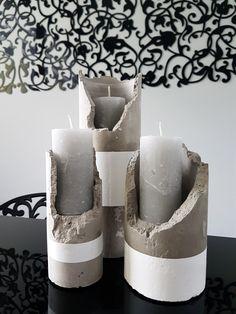 Betonowe świeczniki - komplet nr 2