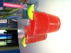 (Red crush )  1/2 light rum , 1/2 disarrono,1/2 grenadine , 1/2 lemonade juice , shake in a shaker and a splash of 7Up and lime for garnish