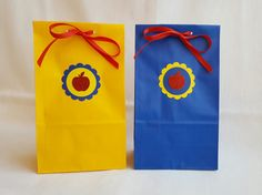 Snow White Red Apple Party Favor Bags Set by ImagineCelebrations