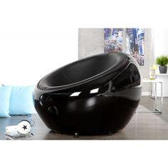Moderne stoel lounge bal zwart - 11617