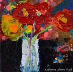 Katherine Jeanne Wood - 4x4 Flower Series No 63 01