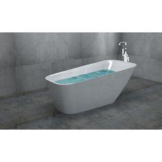 "Golden Vantage 67"" Acrylic Bathtub Freestanding Combo Bathroom Shower Spa Overflow Body Contemporary Bath Tub Modern GV-BT0041-TF0024"