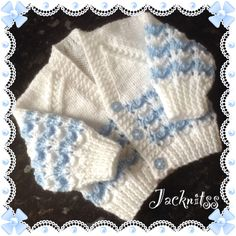 Newborn Baby Cardigan blue stripe