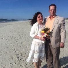 CONGRATULATIONS Brian and Geneil !! (All the way from Alaska!) #stephenpalmerweddings #tybeeisland #beachwedding