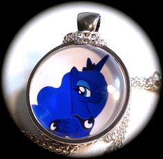 Princess LUNA . Glass My LITTLE PONY Pendant by girlgamegeek, $11.11