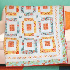 "FREE quilt pattern: ""Not Too Square"" (from The Quilter Magazine)"