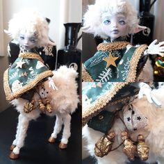 Monster High Avea Trotter custom doll. Little lamb children.