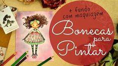 Gina Pafiadache - YouTube - Vídeo com dicas para colorir do Estojo de Bonecas Para Pintar.