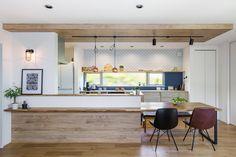 Zen Design, House Design, Kitchen Layout, Kitchen Design, Natural Interior, Japanese Interior, Home Hacks, Kitchen Interior, Home And Living