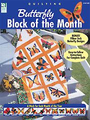 """Butterfly Block of the Month...because I kind of have """"a thing"""" about butterflies."""
