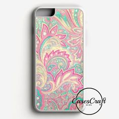 Pink Turquoise Girly Chic Floral Paisley Pattern iPhone 7 Case | casescraft
