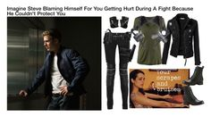 """Imagine Steve Blaming Himself For You Getting Hurt During A Fight Because He Couldn't Protect You"" by alyssaclair-winchester ❤ liked on Polyvore"