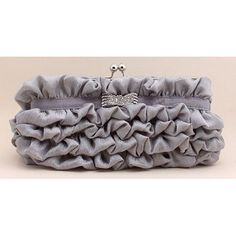 Gray Grey Soft Silk Bridesmaid Evening Party Ball Clutches Bags Purses  SKU-1110466