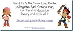 Jake and the Neverland Pirates Kindergarten Activity Kit