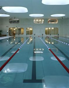 Mikou Studio completes Paris swimming pool designed using Feng Shui philosophy – pool ideas Lap Swimming, Indoor Swimming Pools, Swimming Pool Designs, Feng Shui, Piscina Interior, Studio, Pool Water, Dezeen, Pool Houses