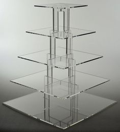 5 Tier Acrylic Square Cupcake Stand Tower Display (PPS901… Cupcake Tier 45f125c3ca4