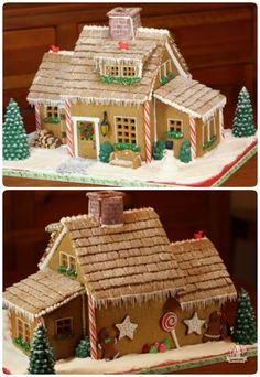 Love the add-on sections for this gingerbread house. Pics only no instructions or templates