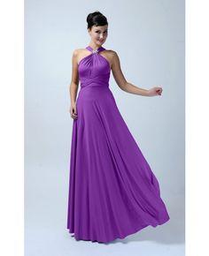 Long Infinity Bridesmaid dress in Plum