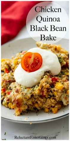 Business Cookware Ought To Be Sturdy And Sensible Chicken Quinoa Black Bean Bake Chicken Quinoa Recipes, Baked Chicken, Farro Recipes, Chicken Ideas, Side Dish Recipes, Dinner Recipes, Dinner Ideas, Cooking Recipes, Healthy Recipes