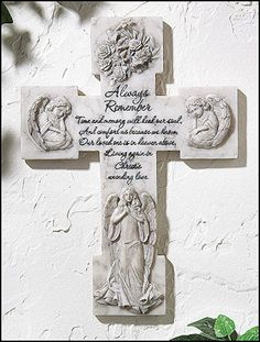 Memorial Prayer Wall Cross with Angels