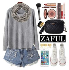 """""""Zaful"""" by oshint ❤ liked on Polyvore featuring Converse, Charlotte Tilbury, Gucci, Valentino, maurices and zaful"""