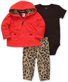 Carter's Baby Set, Baby Girls 3-Piece Cardigan, Bodysuit and Pants