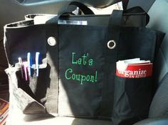 Nifty organizing utility tote for extreme coupon divas!