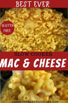 Slow Cooker Mac Cheese, Crockpot Mac And Cheese, Easy Mac And Cheese, Macaroni Cheese Recipes, Mac And Cheese Homemade, School Mac And Cheese Recipe, Gluten Free Mac And Cheese Recipe, Cooker Recipes, Crockpot Recipes