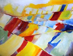 Original Oil Painting 'Linearity' by SBGallery on Etsy, $400.00