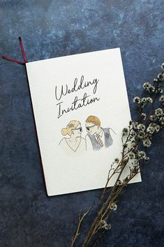 新郎新婦イラストの無料テンプレートで招待状を手作り | ARCH DAYSペーパーアイテム 招待状 / WEDDING | ARCH DAYS Wedding Crafts, Diy Wedding, Wedding Graphics, Wedding Motifs, Wedding Painting, Wedding Illustration, Photo Wedding Invitations, Thanks Card, Web Banner Design