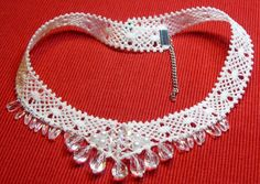 Advanced Embroidery Designs - FSL Elegant Bobbin Lace Necklace