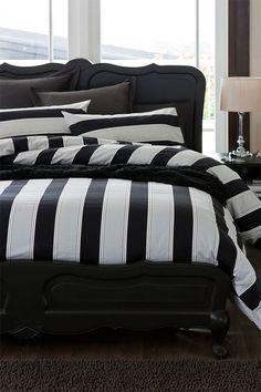 Elegant Belize Duvet Cover Set. Stripes!