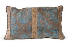 #onekingslane #designisneverdone Blue Fortuny Fabric Pillow I on OneKingsLane.com