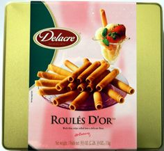 Delacre Exquisite European Biscuits ROULES D'OR Rich Thin crepe rolled into a delicate flute Tin Box Net Weight 35.3 OZ (1000 g) - http://www.yourgourmetgifts.com/delacre-exquisite-european-biscuits-roules-dor-rich-thin-crepe-rolled-into-a-delicate-flute-tin-box-net-weight-35-3-oz-1000-g/