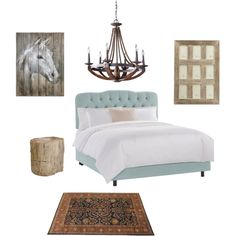 A home decor collage from March 2015 featuring modern bed, bernhardt furniture and rustic iron chandeliers. Interior Decorating, Interior Design, Skyline, House Design, Interiors, Bedroom, Polyvore, Furniture, Home Decor