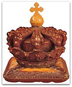 Amber ornament from the Amber Room, Ekatarininsky palace, Tsarskoye Selo, Russia