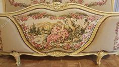 ~ French Upholstered Double Bed ~ antiques-atlas.com