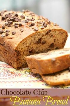 Easy Chocolate Chip Banana Bread- made with maple syrup!!