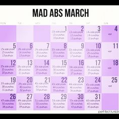 I did a 1/2 of fab ab February before I stopped and started to just do 100 crunches every night.  March looks a little more doable :)