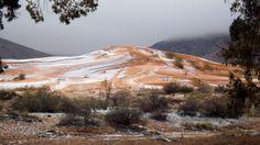 EN IMAGES. Les dunes du Sahara sous la neige pour la première fois depuis trente-sept ans
