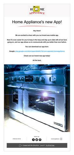 Home Appliance's new App! New Mobile, Mobile App, Home Appliances, House Appliances, Appliances, Mobile Applications
