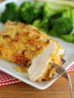 Sour Cream and Onion Potato Chip Chicken - This easy, baked chicken recipe gives you juicy chicken breasts with a crispy, flavorful coating!