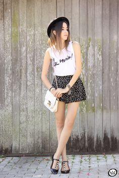 FashionCoolture - 12.04.2015 look du jour Black&White pearls and dots (3)