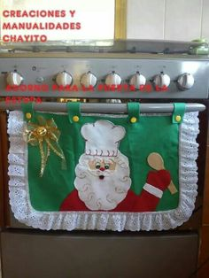 Christmas (handle wrap) Decor - Home Decor Styles Christmas Projects, Holiday Crafts, Christmas Time, Christmas Ornaments, Santa Christmas, Christmas Sewing, Christmas Kitchen, Vintage Christmas, Christmas Cooking