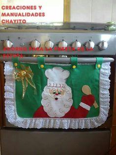 enfeite de fogão de natal