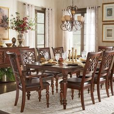 Emma Catherine Cherry Extending Dining Set By INSPIRE Q Classic By INSPIRE Q