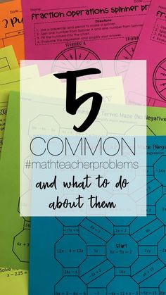 Common problems math teachers have and what to do about them- plus free activities! Math Teacher, Math Classroom, Teaching Math, Teacher Problems, Math Workbook, Order Of Operations, Math Notebooks, Free Math, Percents