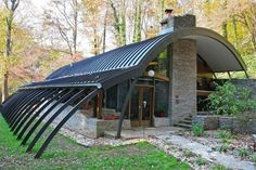 quonset hut homes | quonset hut --- I love straight lines normally but this is interesting!