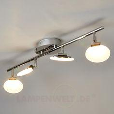 4-flammige LED-Deckenleuchte Deike 9950113
