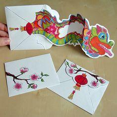 Chinese New Year - Dancing Dragon Card - Hattifant